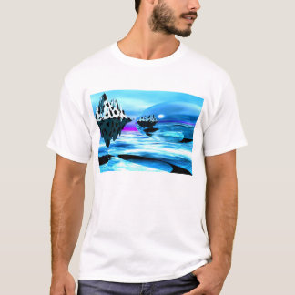 Blue mirrored Planet T-Shirt