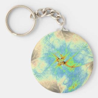 Blue Mist Design Keychain