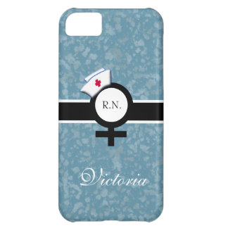 Blue Mist+Female Sign+Nurse Cap/Name iPhone 5C Case