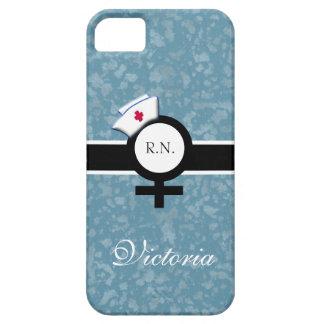 Blue Mist+Female Sign+Nurse Cap/Name iPhone SE/5/5s Case