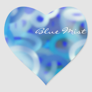 Blue Mist Heart Sticker