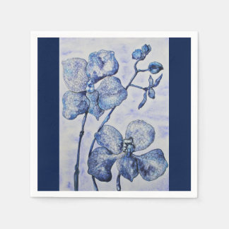 Blue Mist Orchid Special Occasion Napkins