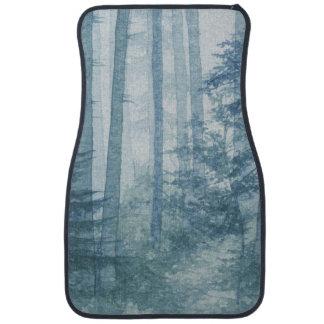 Blue Misty Forest Front Car Mat