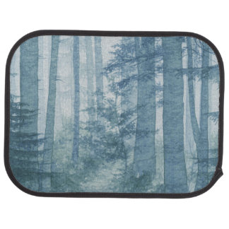 Blue Misty Forest Rear Car Mat