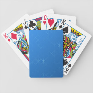 Blue Misty Grid Abstract Design. Bicycle Poker Deck