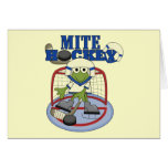 Blue Mite Hockey Goalie T-shirts and Gifts Greeting Cards