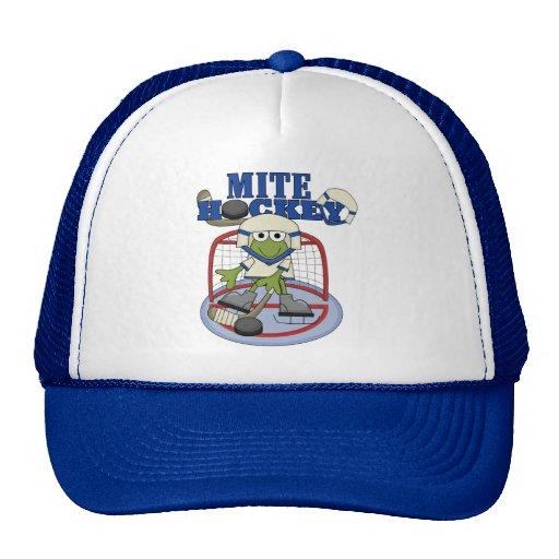 Blue Mite Hockey Goalie T-shirts and Gifts Trucker Hat