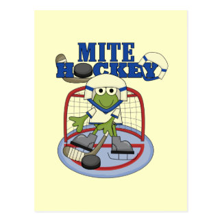 Blue Mite Hockey Goalie T-shirts and Gifts Postcard