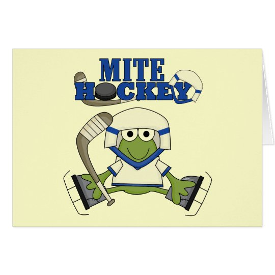 Blue Mite Hockey Tshirts and gifts Card