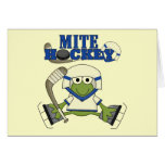 Blue Mite Hockey Tshirts and gifts Greeting Card