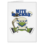 Blue Mite Hockey Tshirts and gifts Greeting Cards