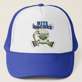 Blue Mite Hockey Tshirts and gifts Trucker Hat