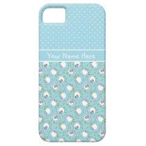 Blue Mix and Match Fun Sheep Patterns iPhone SE/5/5s Case