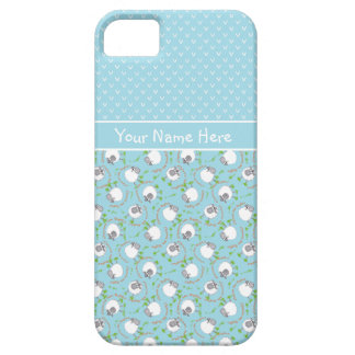 Blue Mix and Match Fun Sheep Patterns iPhone SE/5/5s Case