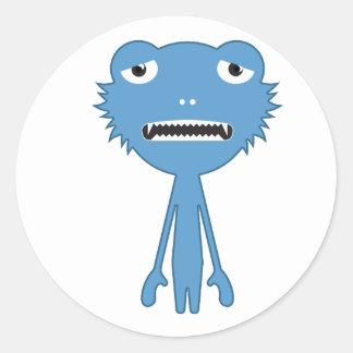 Blue Mnstr Classic Round Sticker