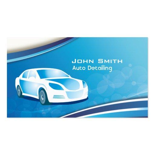 Blue mobile auto detailing car business card zazzle for Mobile auto detailing business cards