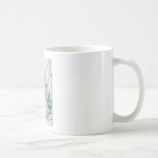 Blue Mod Angel Coffee Mug