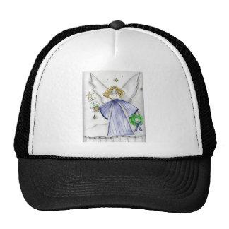 Blue Mod Angel Trucker Hats