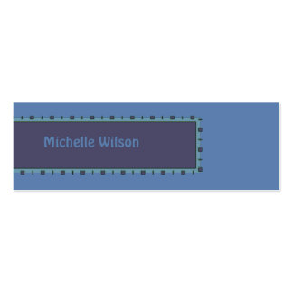 Blue mod box Double-Sided mini business cards (Pack of 20)