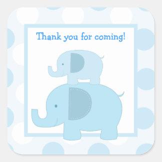 Blue Mod Elephants Square Envelope Seals 20 Square Sticker