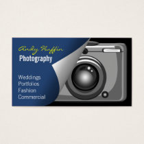 blue Mod Photoraphy, camera Business Card