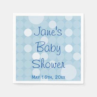Blue Mod Polka Dot Baby Shower Napkins