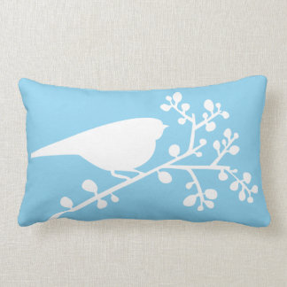 Blue Mod Single Bird and Berries {pick your color} Throw Pillows