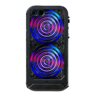 Blue,modern,abstract,cyber,circle,trendy,universe, Incipio ATLAS ID™ iPhone 5 Case