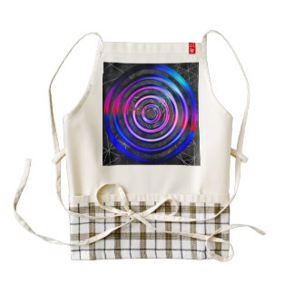 Blue,modern,abstract,cyber,circle,trendy,universe, Zazzle HEART Apron