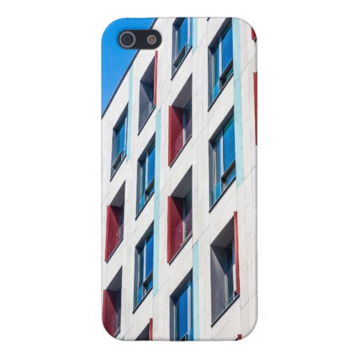 Blue Modern Architecture Cover For iPhone 5