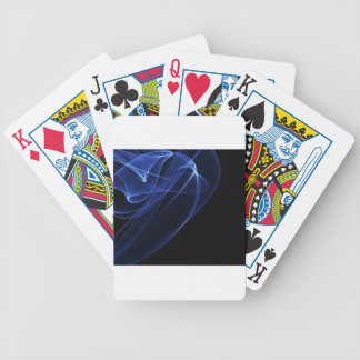 Blue Modern Art Bicycle Playing Cards