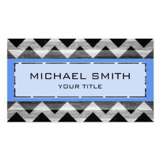 Blue Modern Chevron Pattern Business Card Templates