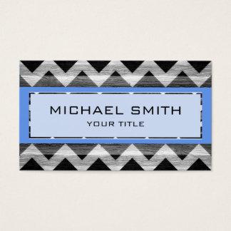 Blue Modern Chevron Pattern Business Card