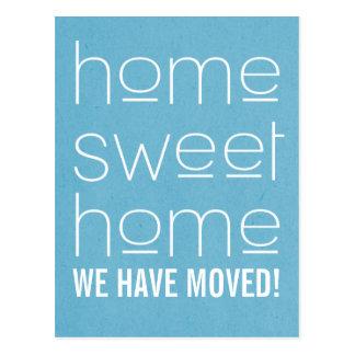 Blue Modern Home Sweet Home Postcard