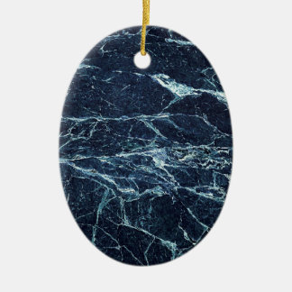 Blue modern marble pattern ceramic ornament