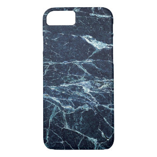 Blue modern marble pattern iPhone 7 case