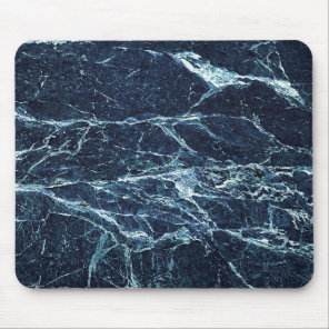 Blue modern marble pattern mouse pad
