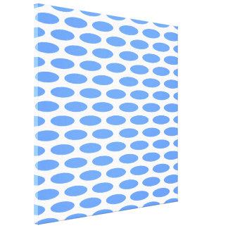 Blue Modern Oval at Emporiomoffa Canvas Print