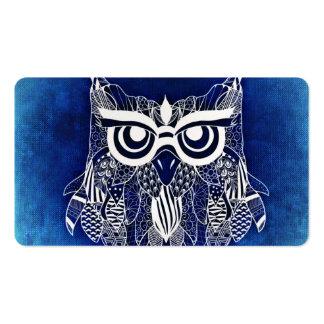 Blue Modern Owl Business Card