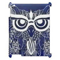 Blue Modern Owl Case For The iPad 2 3 4