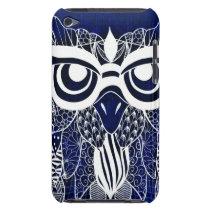 Blue Modern Owl iPod Touch Case