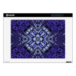 Blue modern pattern acer chromebook decal