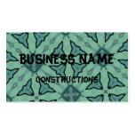 Blue modern pattern business card