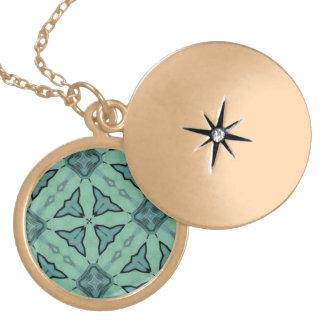 Blue modern pattern custom jewelry