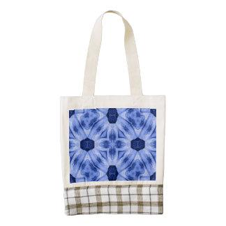 Blue modern Pattern Zazzle HEART Tote Bag