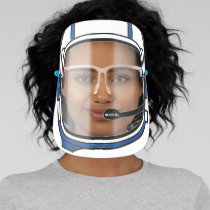 Blue Modern Personalized Space Astronaut Helmet Face Shield
