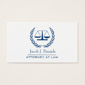 Blue Modern Professional Lawyer Attorney Business Business Card