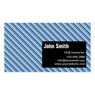 Blue Modern Stripes Golf Business Card