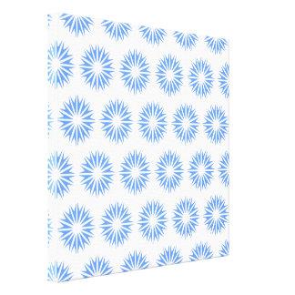 Blue Modern Sunbursts Gallery Wrap Canvas