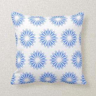 Blue Modern Sunbursts Pillows